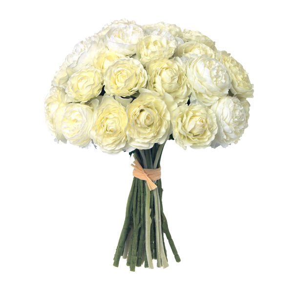 White Ranunculus and Marion Tapered Large Vase