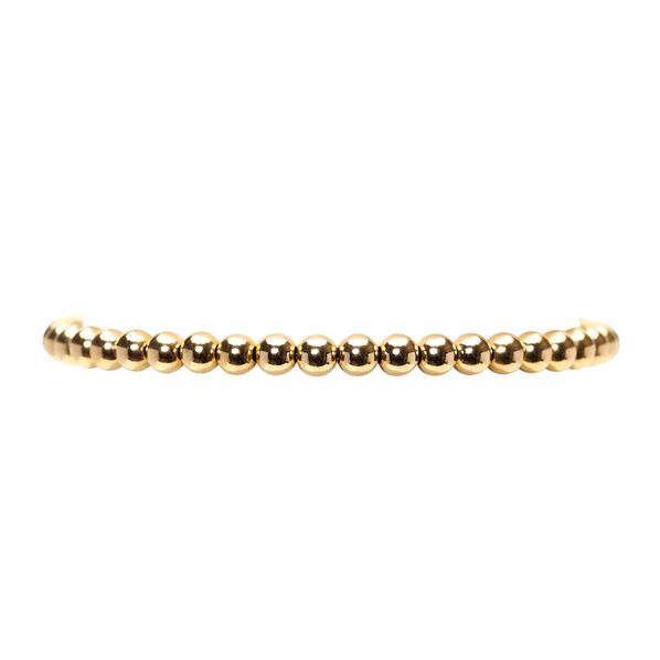 Yellow Gold Bead Bracelet