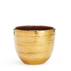 Textured Gold Small Cachepot
