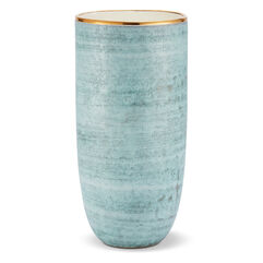 Calinda Tall Vase, Blue Grotto