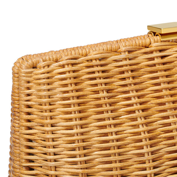 Adelina Wicker Clutch