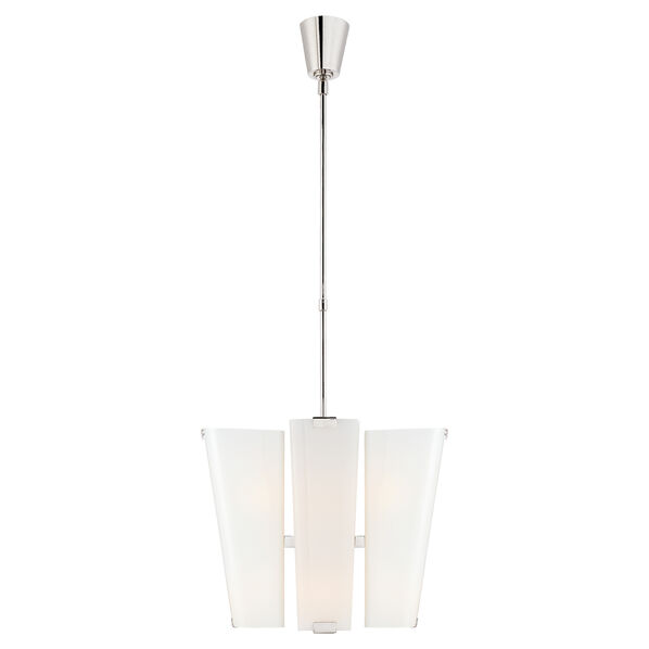 Alpine Small Chandelier with White Glass