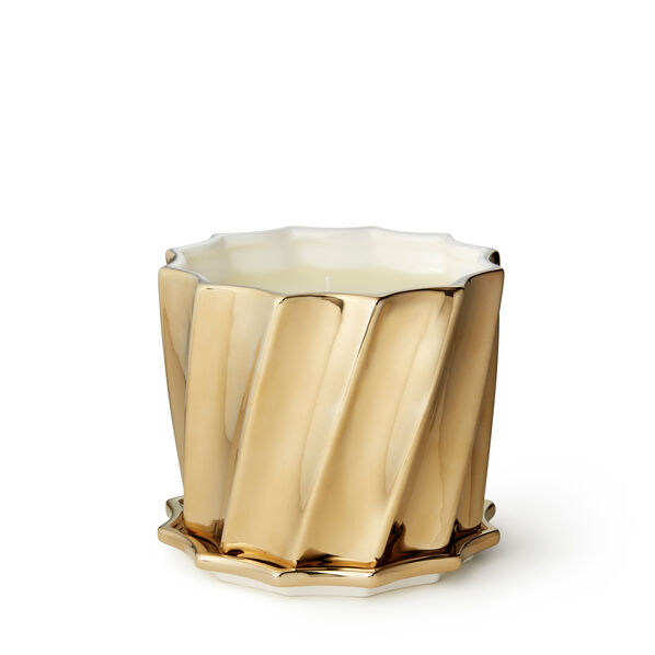 Gold Fluted Scented Candle