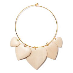 Heart Necklace, Light Wood