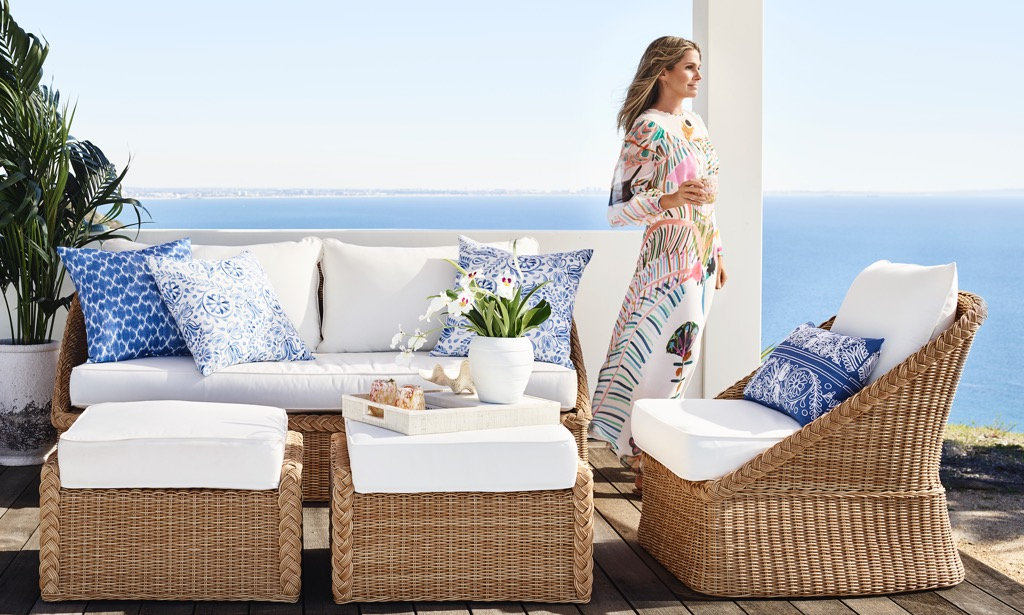 Aerin with her new Spring collection for Williams Sonoma