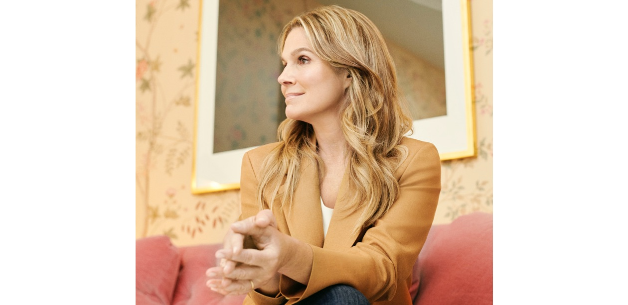 Aerin Lauder wearing the new AERIN x Blaze Milano collaboration