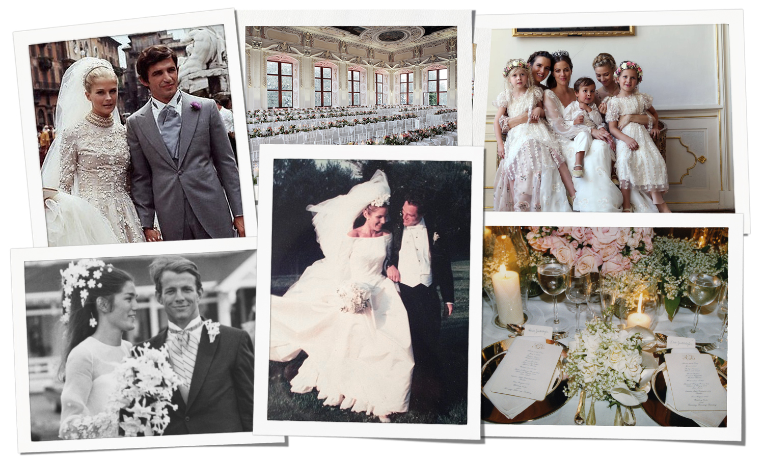 Snapshots from some of Aerin's favorite bridal looks, including her own wedding.