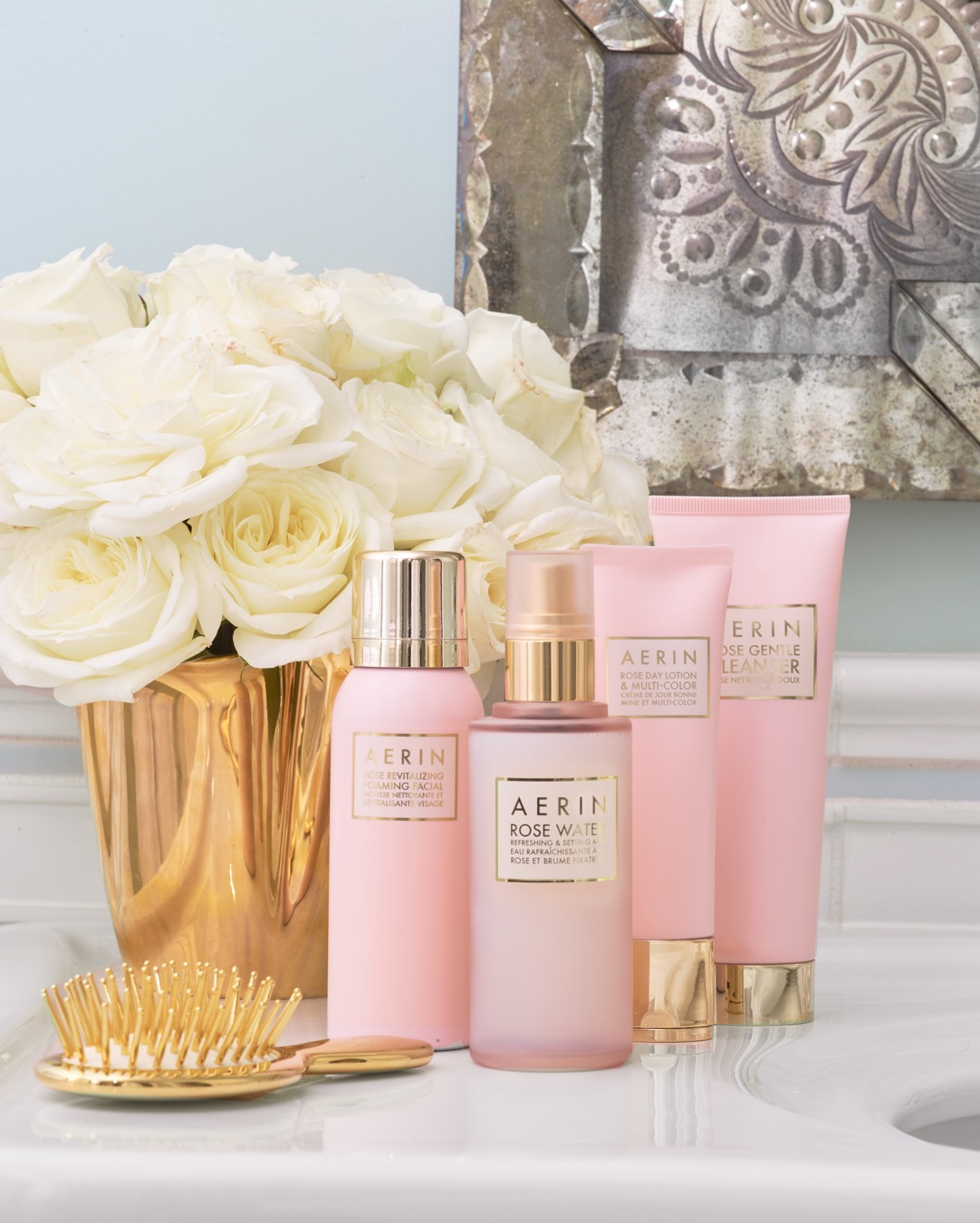 Restore and relax with the AERIN Rose Collection, a perfect addition to any beauty routine