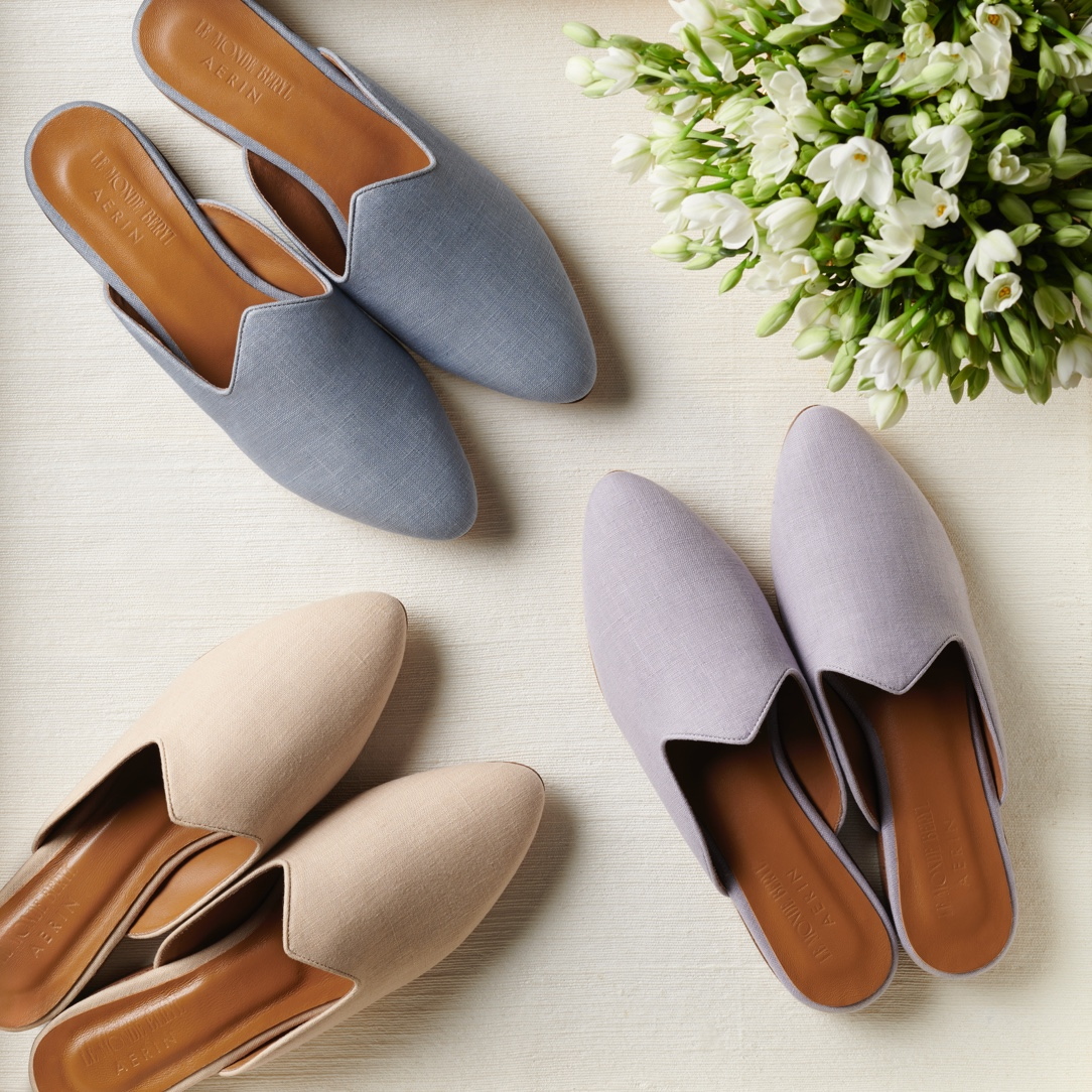 The linen mules by AERIN x Le Monde Beryl