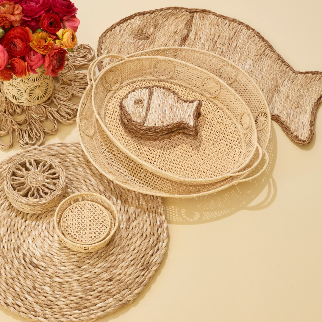New Spring Rattan and Raffia Pieces