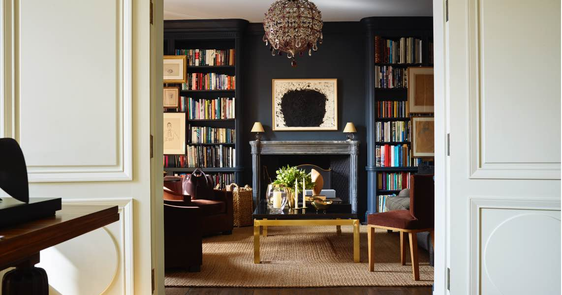 Aerin's library featuring a mix of fall introductions and old favorites