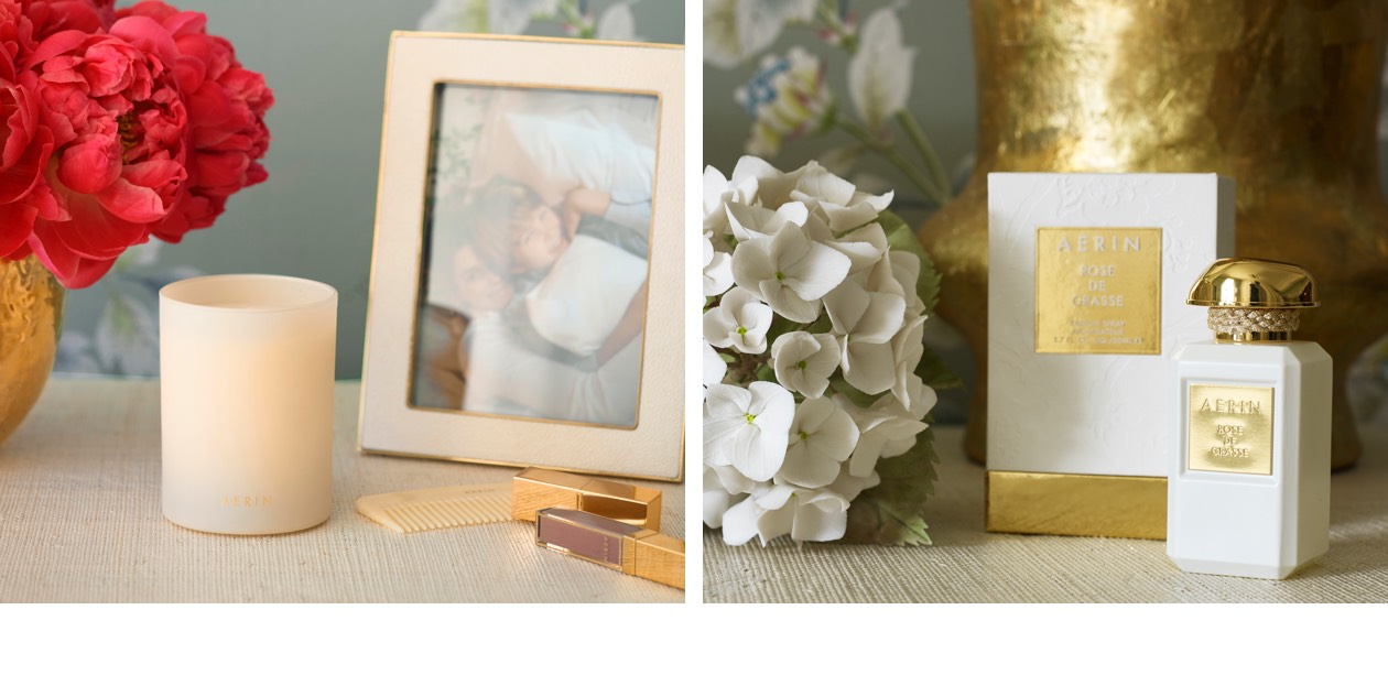 An Aerin candle is an essential for a relaxing boudoir