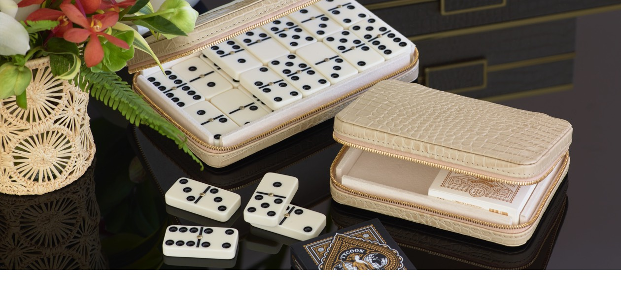Enzo Travel Card Set and Enzo Domino Set