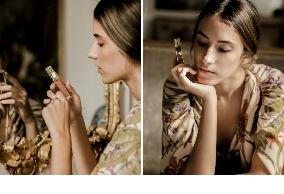 Applying the new AERIN x Johanna Ortiz Essential Nudes Collection